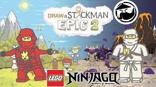 LEGO Ninjago MOVIE Draw A Stickman: EPIC 2 - Drawn Below Gameplay - Kai Save Zane - Story Adventure