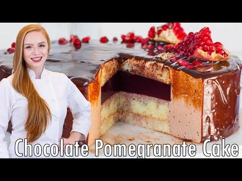 EPIC CAKES: Pomegranate Chocolate Bird's Milk Torte