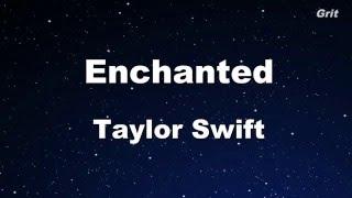 Enchanted - Taylor Swift  Karaoke【No Guide Melody】