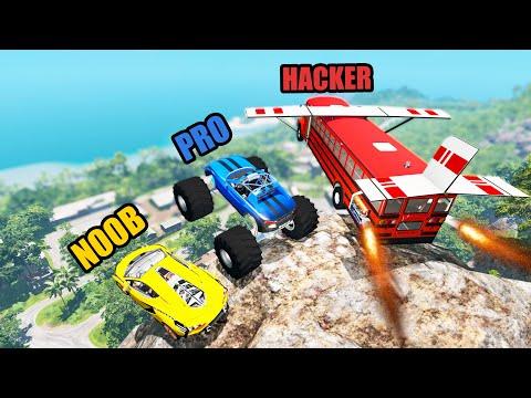 NOOB vs PRO vs HACKER #38 - Beamng drive