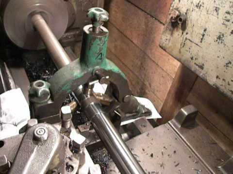 Turning Shaft On 1k62 Lathe By Steady Rest Use Shaft L