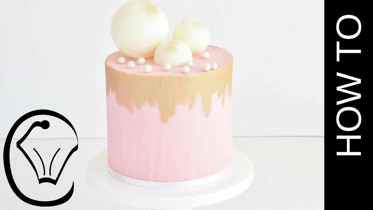 Naked Ganache Cake With Gold Accents by Cupcake Savvy\'s Kitchen ...