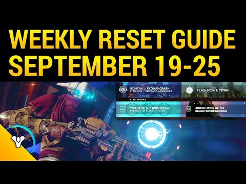 Destiny 2: Weekly Reset Guide (Sept 19-25)