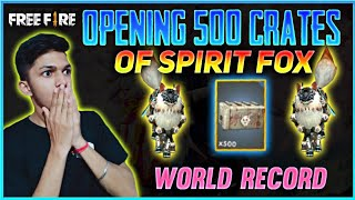 I Got Spirit Fox From Opening 500 Crates New World Record At Free Fire