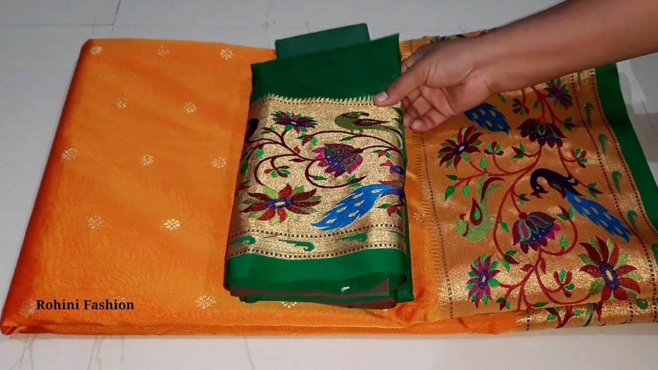 Download Paithani saree blouse designer back neck|simple &