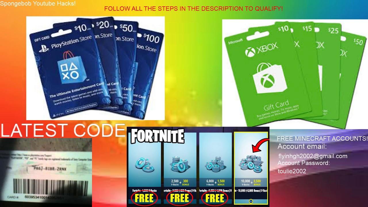 Free V Bucks Codes Ps4