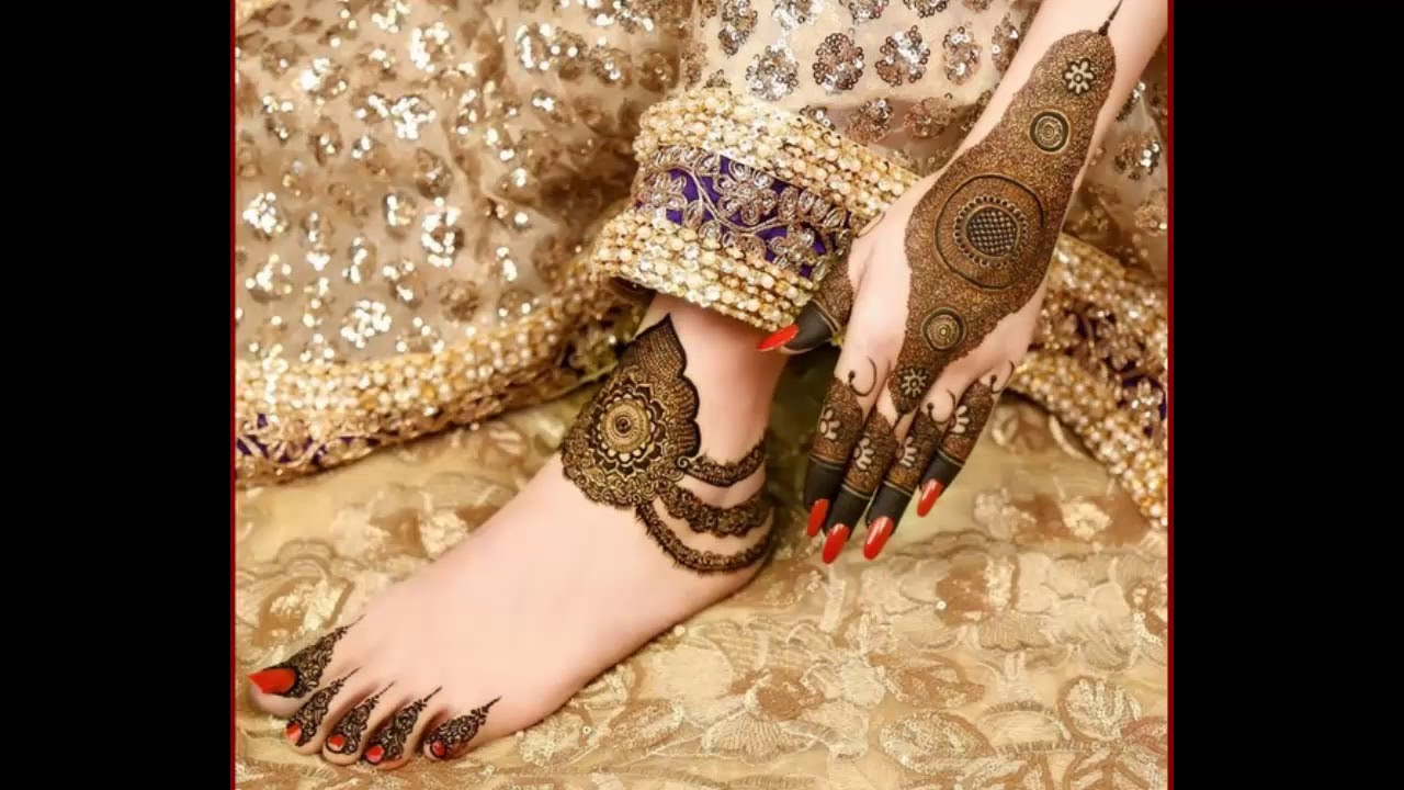 Mehndi Designs For Feet And Hands : Simple easy feet henna mehndi designs for