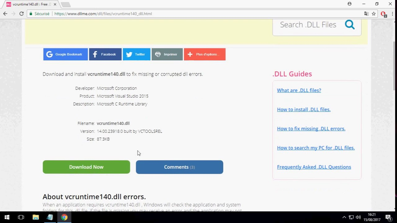 vcruntime140.dll was not found php