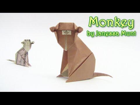 Papercraft Origami Monkey ( money ) | Como hacer el mono dinero origami