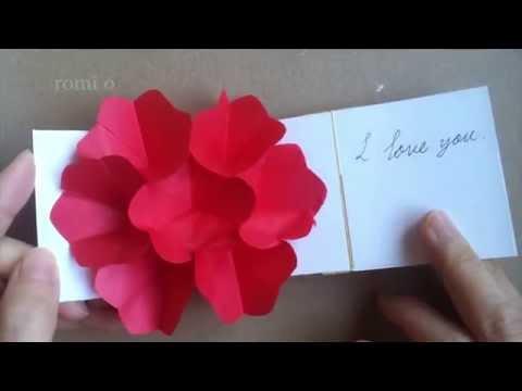 입체 꽃카드 만들기, 기념일카드, pop-up flower card diy