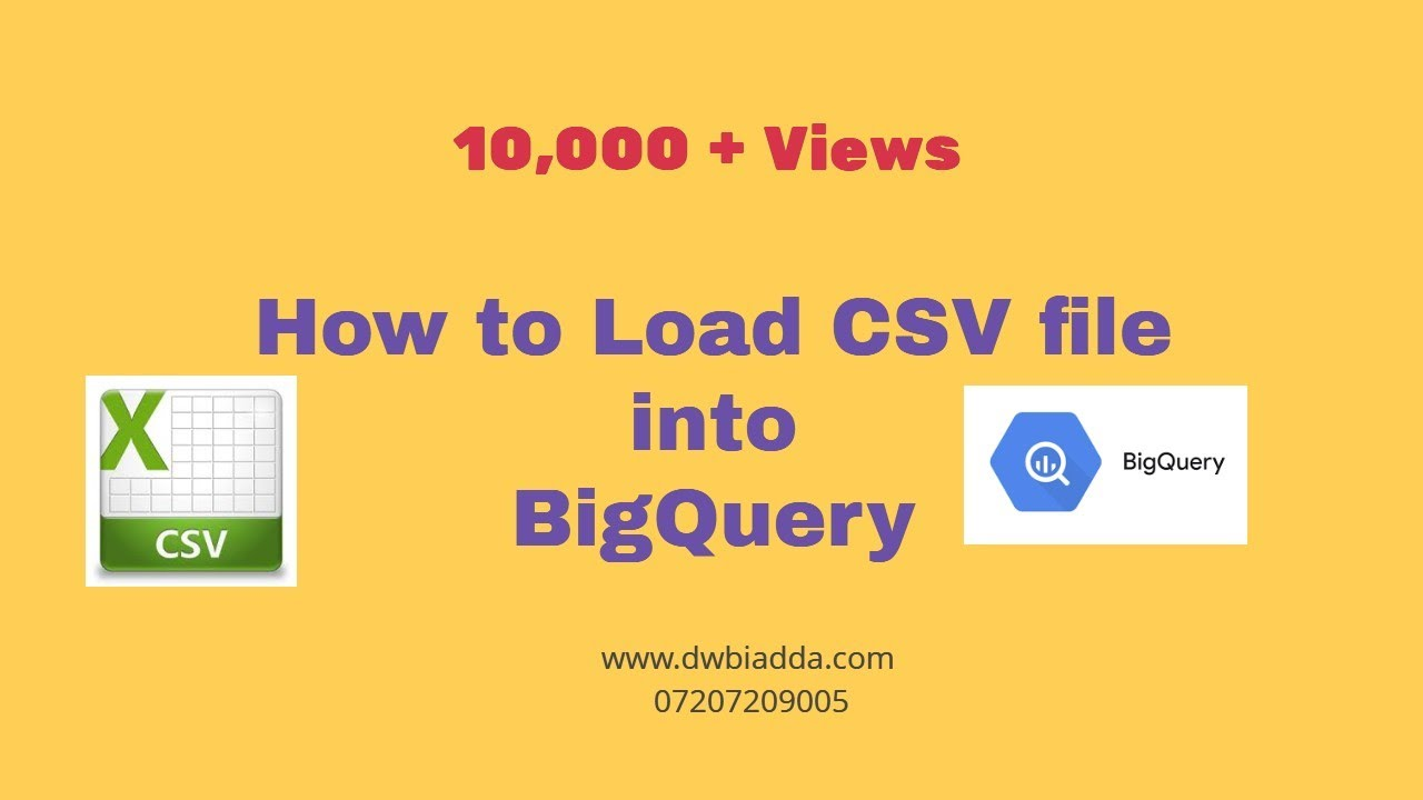 How to load CSV file into Google BigQuery