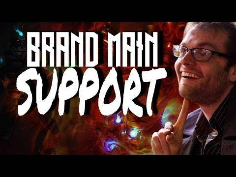 When a Brand Mid Main plays support - Live game play commentary - League of legends season 7