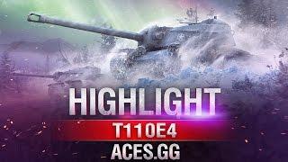 Старый солдат! T110E4 в World of Tanks на карте
