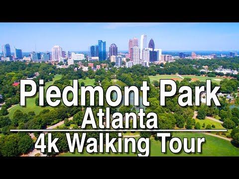 Walking Tour of Piedmont Park | 4K DJI Osmo | Ambient Music