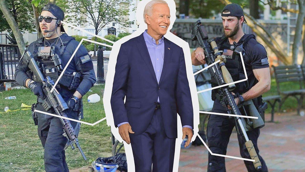Смотрите чем вооружена охрана президента США