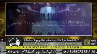 Atif Aslam sing national anthem in LUX style award show 2017