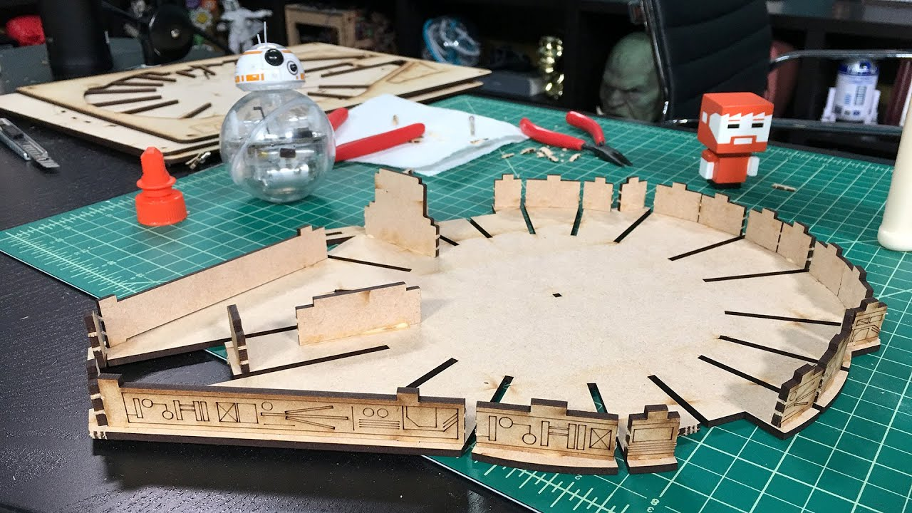 Tested Builds: Laser-Cut Millennium Falcon Kit! - YouTube