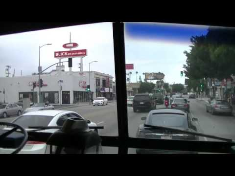 Sacramento Regional Transit (ex) Flxible Bus 4957 East on Santa Monica Boulevard