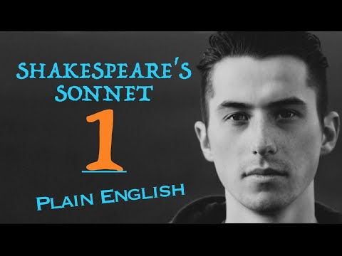 Shakespeare's Sonnet 1 (PLAIN ENGLISH)