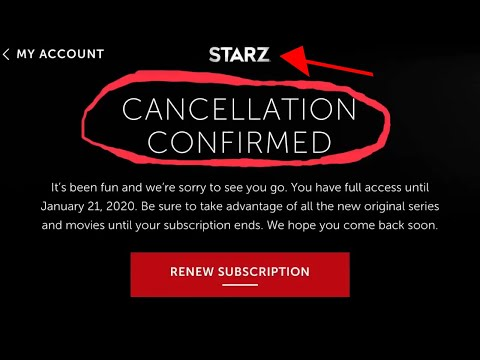 How To Cancel Starz Free Trial Or Regular Account
