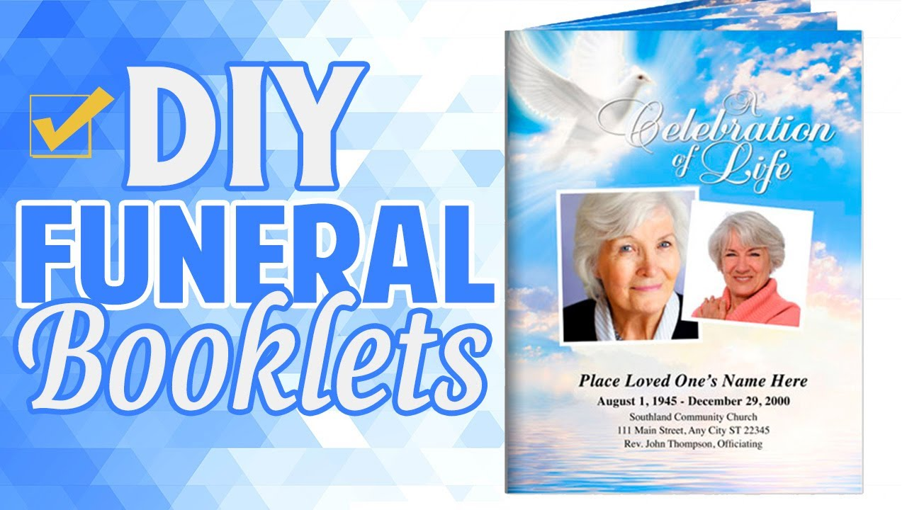 Printable Large Tabloid Funeral Programs Booklets   YouTube  Free Printable Obituary Program Template