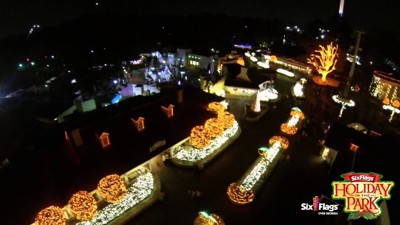 Six Flags Over Georgia: Holiday in the Park Sky Buckets POV 2015 ...