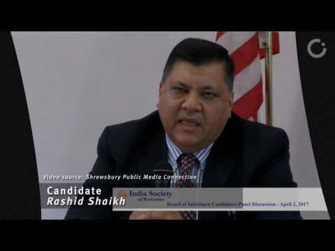 Rashid Shaikh - Shrewsbury Selectman candidate elevator pitch