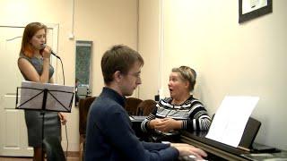 Урок вокала.Джазовый стандарт в диапазоне контральто.Первое прочтение
