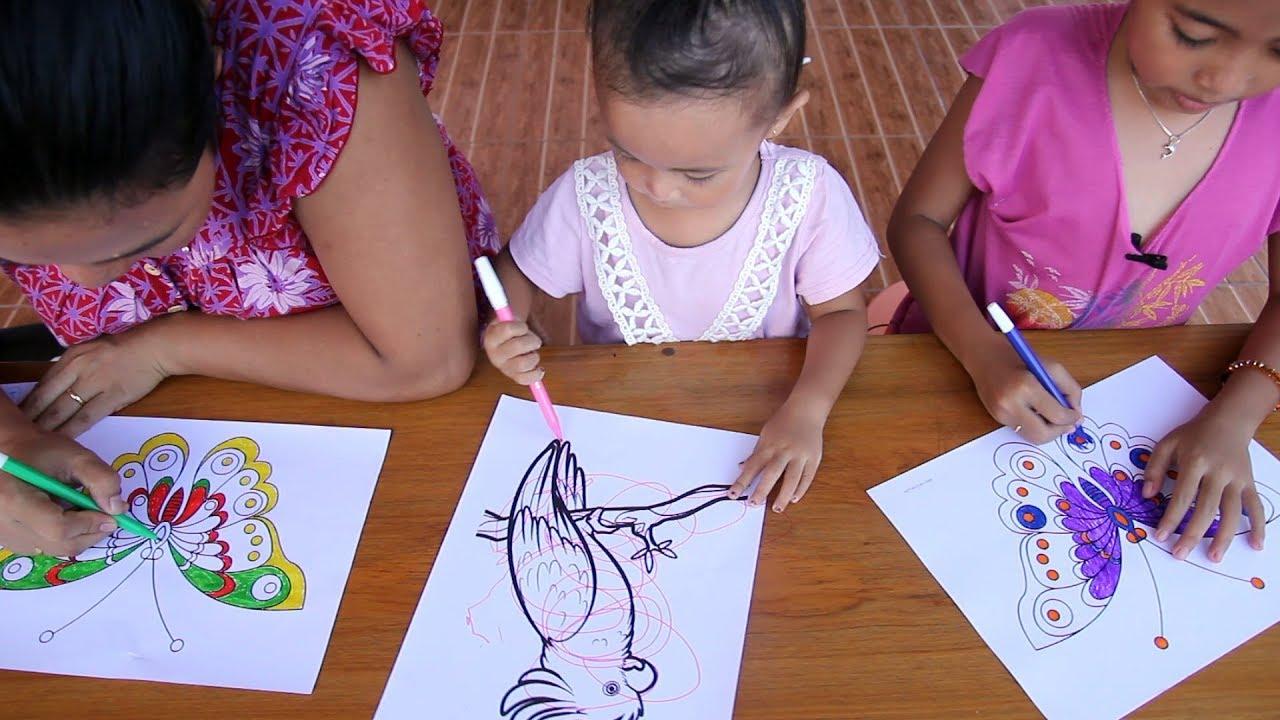 Balita Lucu Ikut 3 Maker Challenge Bikin Seru Hehehe Kids Coloring Butterfly