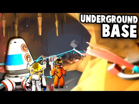 Incredible UNDERGROUND SECRET BASE in Space! (Astroneer Multiplayer Gameplay)
