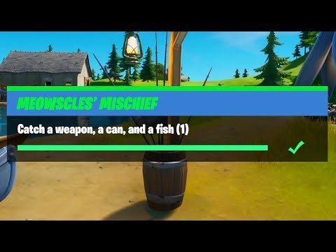 Catch A Weapon, A Can, And A Fish (1) - Fortnite Meowscles' Mischief Challenges