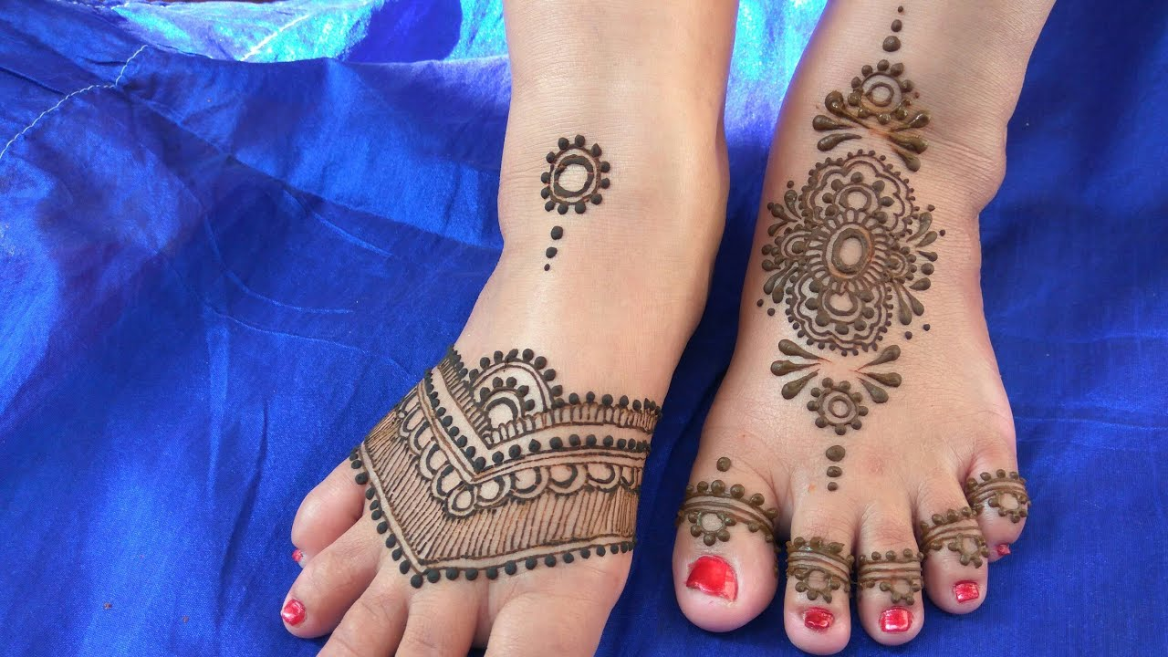mehndi designs for legs simple and easy for beginners