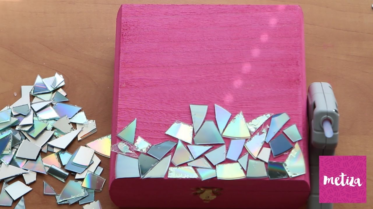 DIY Recycled CD Jewelry Box Holiday Gifting Metiza YouTube