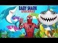 Baby Shark Dance SPIDERMAN - Animal Song -  My Nursery Rhyme for Kids