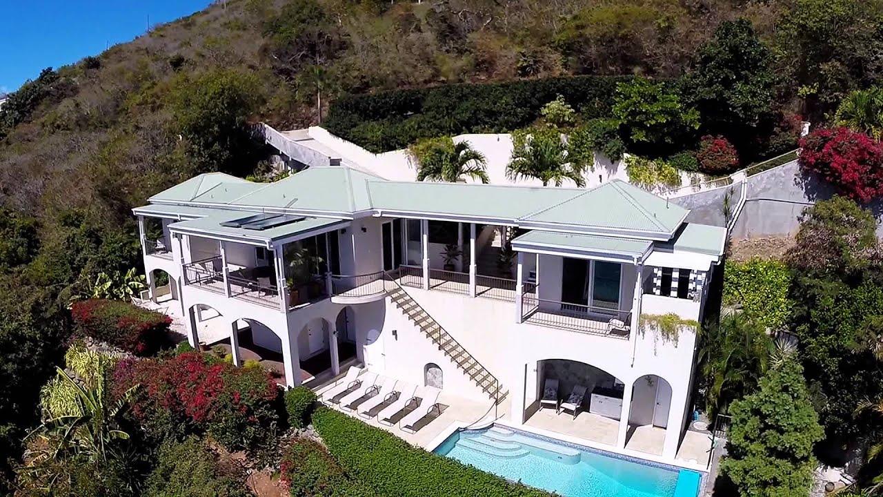 Villa Anansi Aerial Tour Klein Bay St John Us Virgin Islands