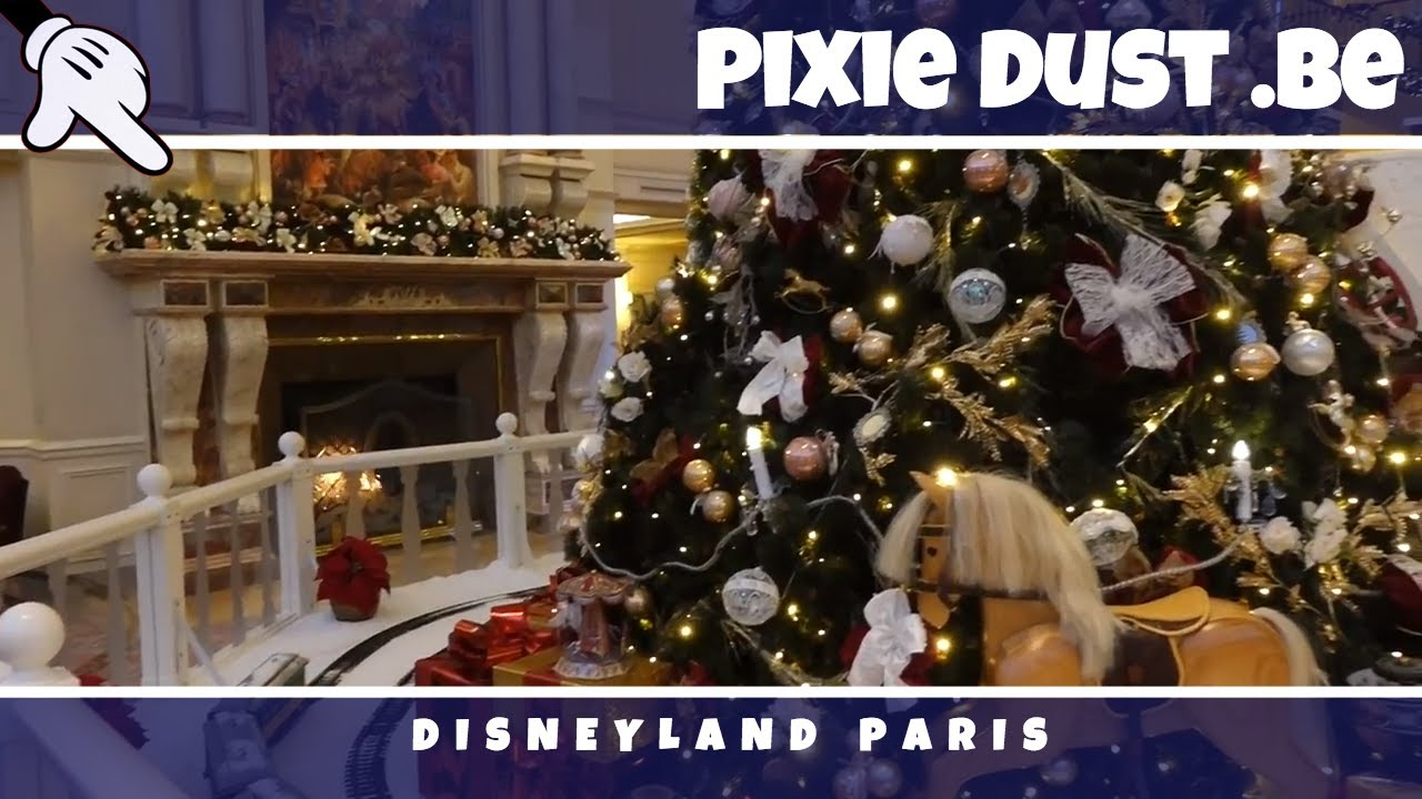 Christmas Decorations At The Disneyland Hotel Disneyland Paris 2017