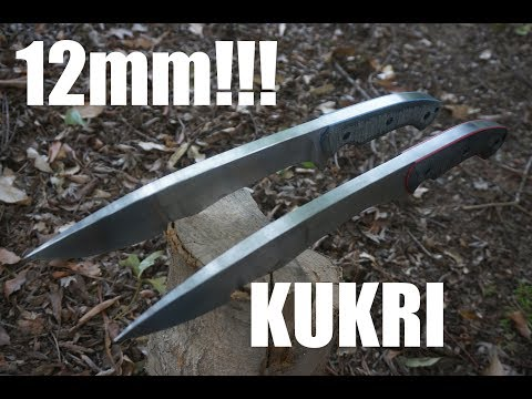 Knifemaking: Monsterously thick Kukris!