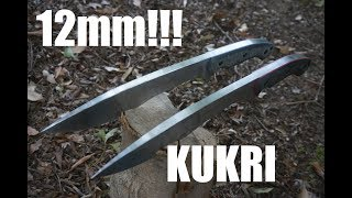 Knifemaking: Monsterously thick Kukris!