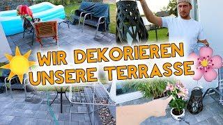 TERRASSE MAKEOVER! Wir dekorieren endlich unsere Terrasse! Kathi2go