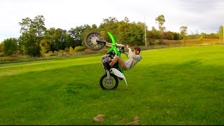 NEW DIRT BIKE WHEELIE!!!