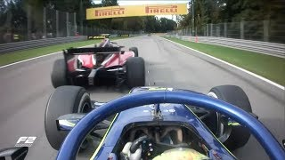 George Russell and Lando Norris Duel at Monza   Formula 2 Italy 2018