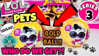 LOL SURPRISE PETS WAVE 2 SERIES 3 | FULL CASE OPENING + GOLD BALL FOUND!! L.O.L TOYS DOLLS UP & PLAY