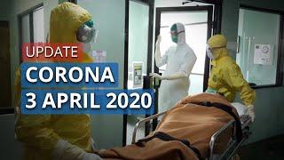 UPDATE Corona  di Indonesia 3 April 2020, Total 1.986 Positif, 134 Sembuh