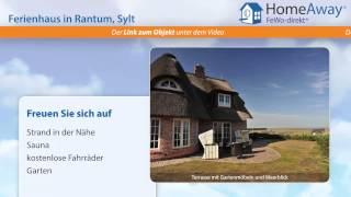 Ferienort Sylt: Luxus- Ferienhaus mit Sauna, Kamin und traumhaftem Meerblick - FeWo-direkt.de Video