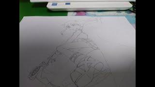 소울 이터의 마카 알반 손그림/Maka Albarn o…