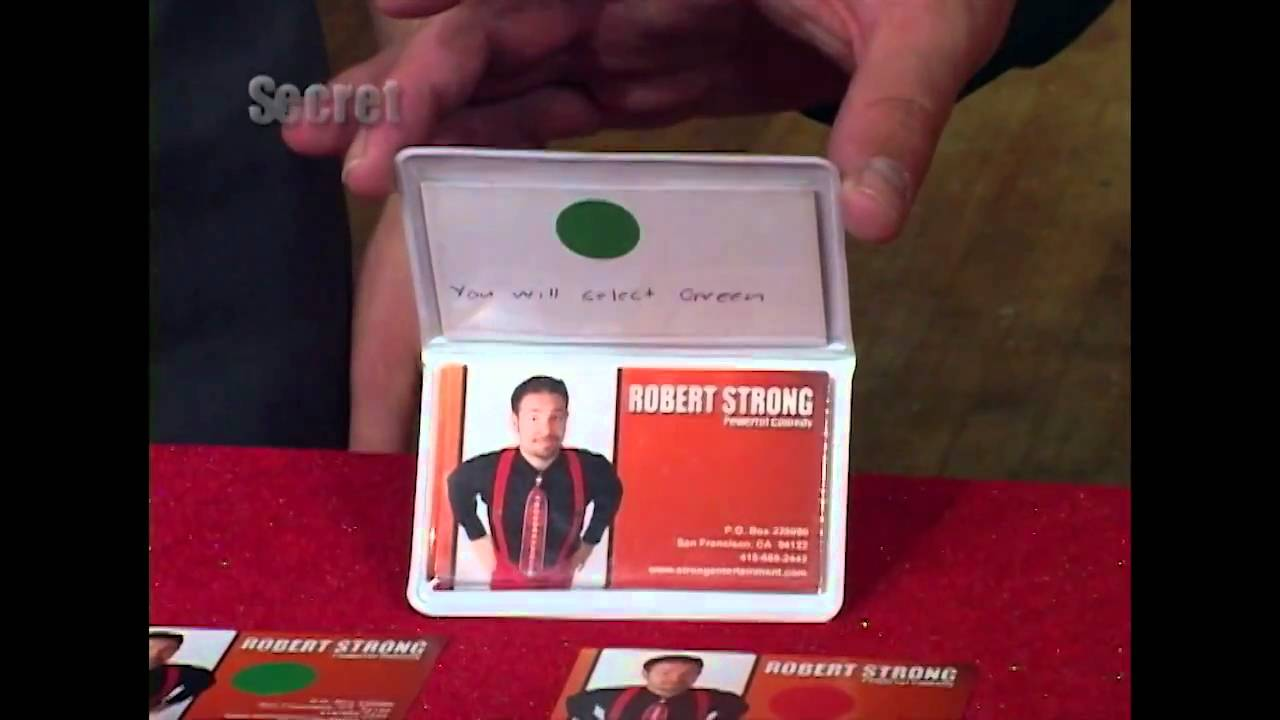 business card trick robert strong corporate magician