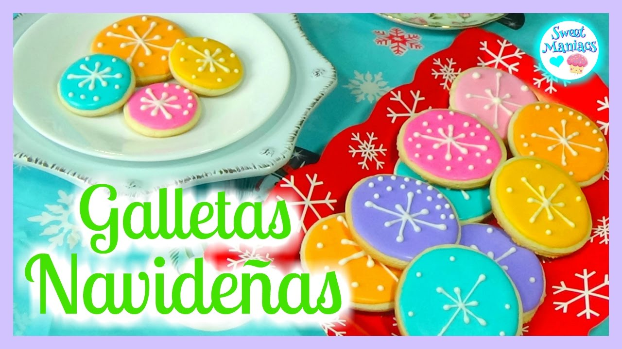 Decorar Con Glasa Real Cómo Decorar Galletas Navideñas Con Glasa Real Decoración Con Glasa Real Sweet Maniacs
