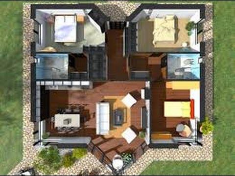 Planos de casas americanas en 3d youtube - Planos en 3d de casas ...
