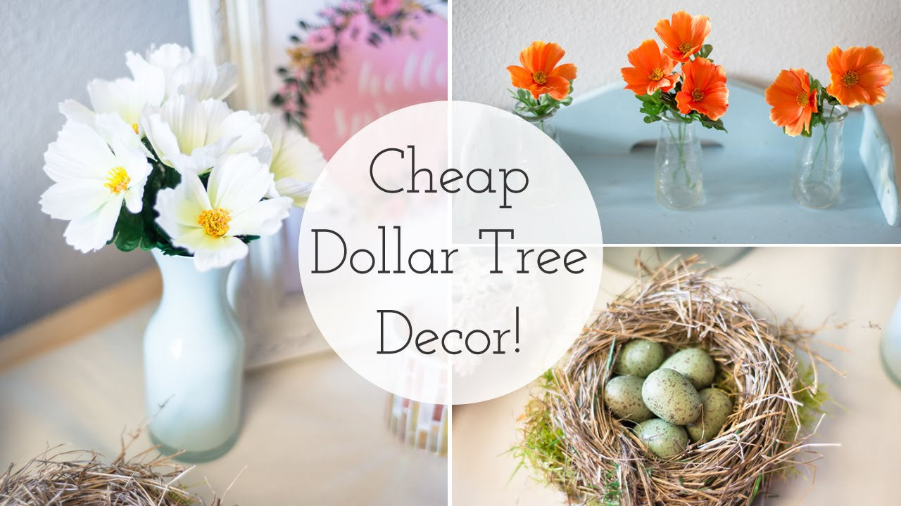 spring decor 2016 cheap dollar tree diy ideas youtube
