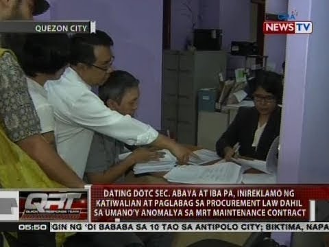 Dating DOTr Sec. Abaya at iba pa, inireklamo ng katiwalian at paglabag sa procurement law